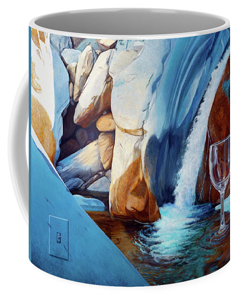 Landscape Coffee Mug featuring the painting Fragile Moments by Snake Jagger
