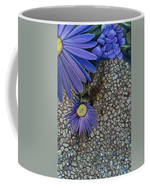 Wildflower Coffee Mug featuring the painting Fragile Thing by Hunter Jay