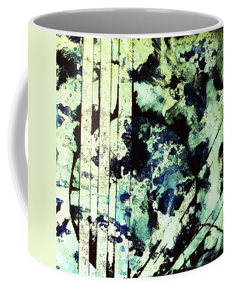 Fragility Coffee Mug featuring the mixed media Fragility by James Pinkerton
