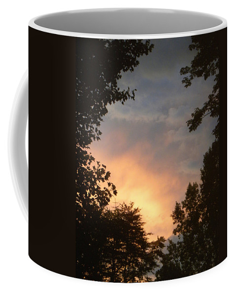 Sunset Coffee Mug featuring the photograph Framed Fire In The Sky by Sandi OReilly