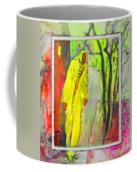 Acrylics Coffee Mug featuring the painting Framed by Miki De Goodaboom