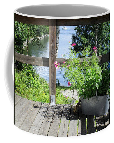Porch Coffee Mug featuring the photograph Framed View by Rosita Larsson