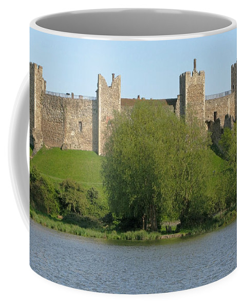 England Coffee Mug featuring the photograph Framlingham Castle by Ann Horn