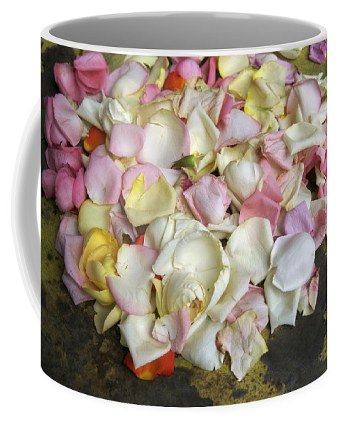 Bunch Of Flowers Coffee Mug featuring the photograph France Flower Petals, Still-life by Keenpress