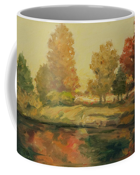 Trees Coffee Mug featuring the painting France I by Rick Nederlof