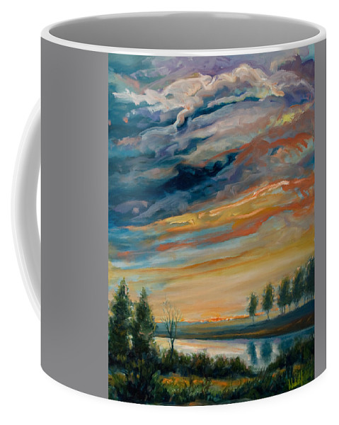 Water Coffee Mug featuring the painting France IIi by Rick Nederlof