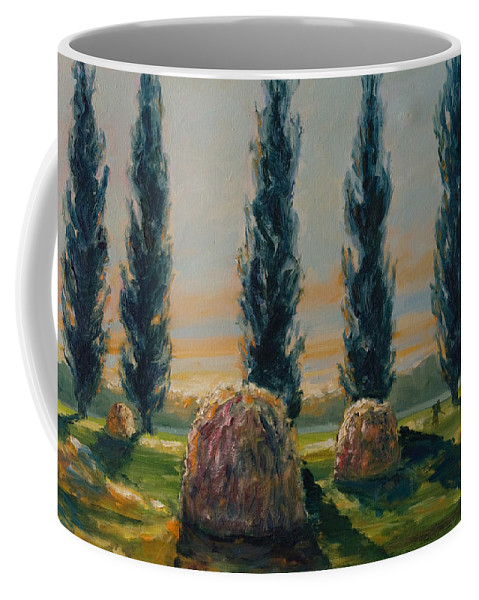 Trees Coffee Mug featuring the painting France Iv by Rick Nederlof