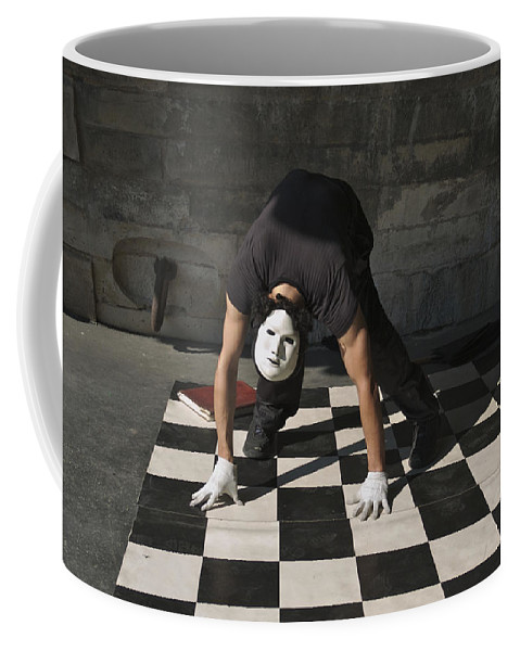 Bending Over Coffee Mug featuring the photograph France, Paris Street Performer by Keenpress