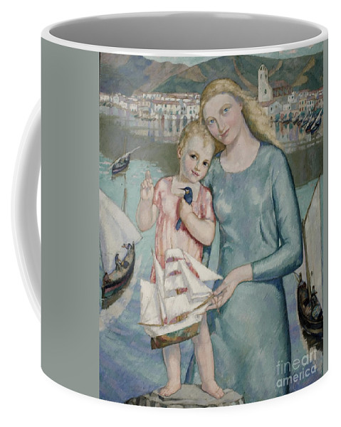 Gali Fabra Coffee Mug featuring the painting Francesc Assis by MotionAge Designs
