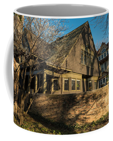 Wright Coffee Mug featuring the photograph Frank Lloyd Wright Home And Studio by Steve Gadomski