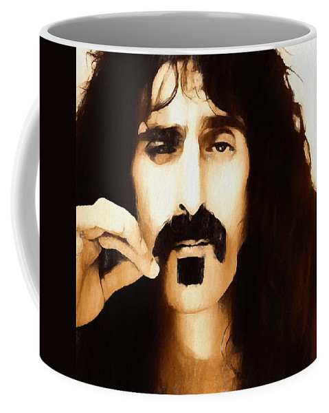 Frank Zappa Coffee Mug featuring the painting Frank Zappa by Dan Sproul