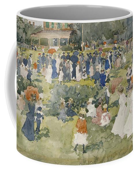 Maurice Brazil Prendergast (1858 � 1924) Coffee Mug featuring the painting Franklin Park Boston by Maurice Brazil Prendergast