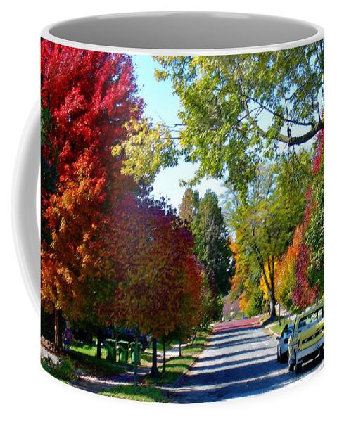 Landscape Coffee Mug featuring the photograph Franklin Street Liberty by Steve Karol