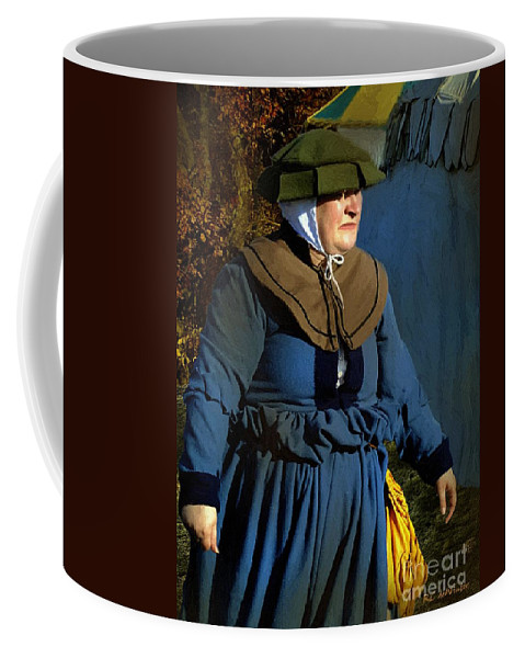 Autumn Coffee Mug featuring the painting Frau Kitzler Goes Hunting by RC DeWinter