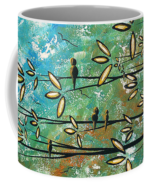 Art Coffee Mug featuring the painting Free As A Bird By Madart by Megan Duncanson