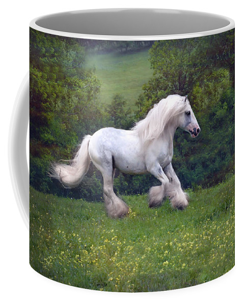 Horse Coffee Mug featuring the photograph Free Billy by Fran J Scott