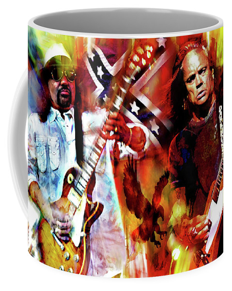 Freebird Coffee Mug featuring the mixed media Freebird Lynyrd Skynyrd by Mal Bray