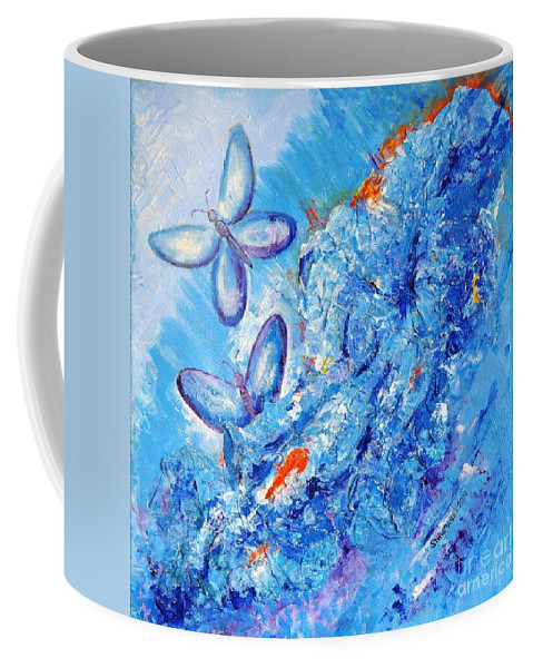 Fantasy Coffee Mug featuring the painting Freedom In Soul by Stella Velka