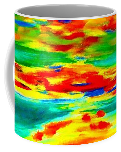Freestyle Abstract Coffee Mug featuring the painting Freestyle Abstract by Tim Townsend