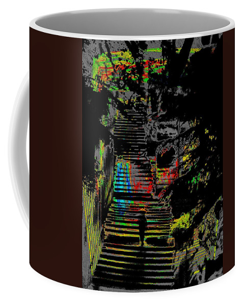 Seattle Coffee Mug featuring the digital art Freeway Park Steps by Tim Allen