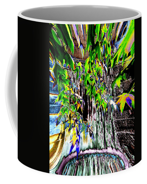 Seattle Coffee Mug featuring the photograph Freeway Park Waterfall 3 by Tim Allen