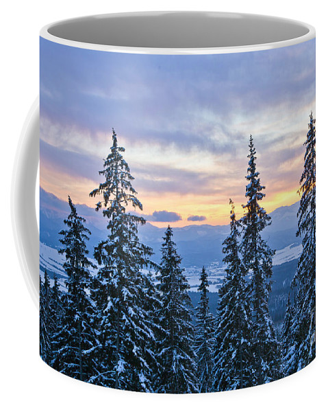 Hotel Panorama Resort Coffee Mug featuring the photograph Freezing Sunset 13 by Alex Art and Photo