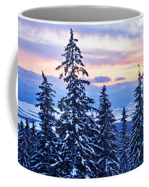 Hotel Panorama Resort Coffee Mug featuring the photograph Freezing Sunset 14 by Alex Art and Photo