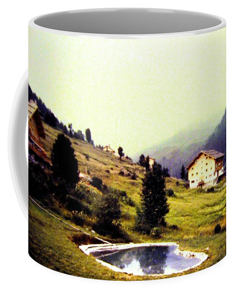 1955 Coffee Mug featuring the photograph French Alps 1955 by Will Borden