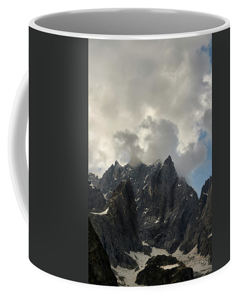 Courmayeur Coffee Mug featuring the photograph French Alps Peaks by Jon Glaser