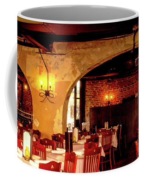French Coffee Mug featuring the photograph French Country Restaurant by Wayne Archer