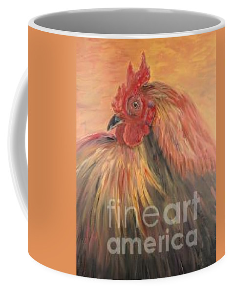 Rooster Coffee Mug featuring the painting French Country Rooster by Nadine Rippelmeyer