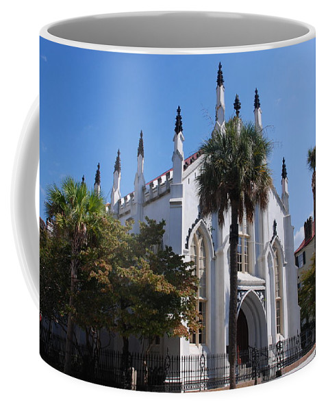 Photography Coffee Mug featuring the photograph French Huguenot Church In Charleston by Susanne Van Hulst