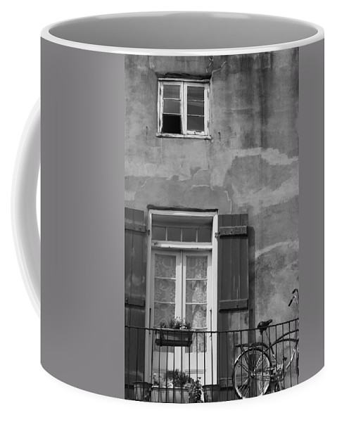 French Quarter Coffee Mug featuring the photograph French Quarter Window by Lauri Novak