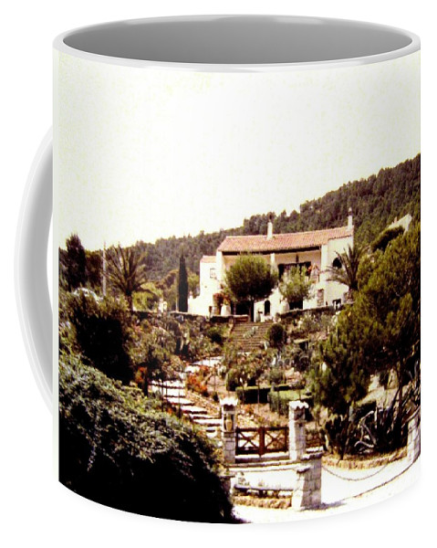 1955 Coffee Mug featuring the photograph French Riviera 1955 by Will Borden