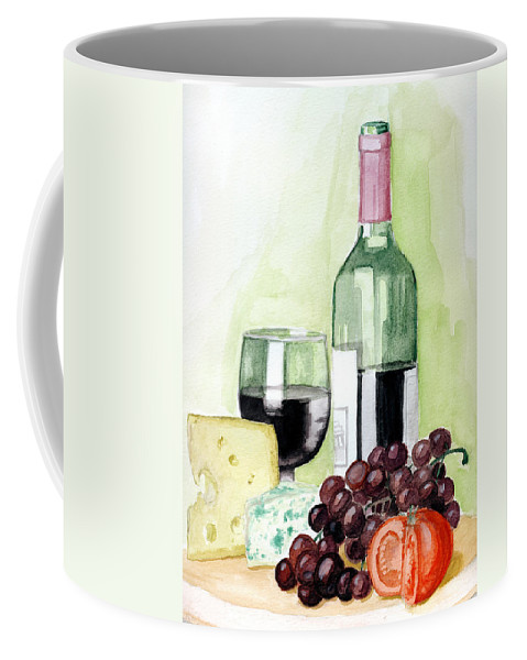 Wine Coffee Mug featuring the painting French Tradition by Alban Dizdari
