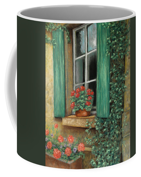 Window Coffee Mug featuring the painting French Window by Susan Jenkins