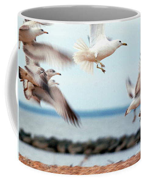 Clay Coffee Mug featuring the photograph Frenzy by Clayton Bruster