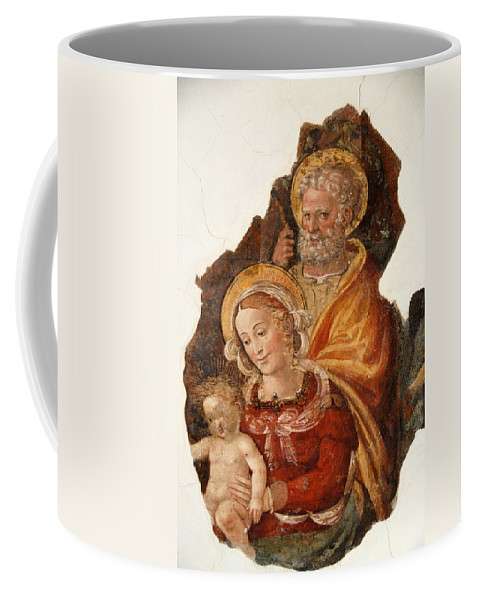 Art Coffee Mug featuring the photograph Fresco Holy Family by Chlaus Loetscher