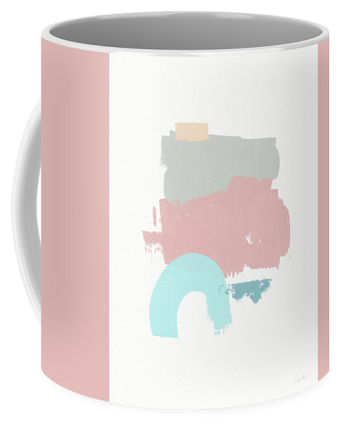 Abstract Coffee Mug featuring the mixed media Fresh Abstract 2- Art By Linda Woods by Linda Woods