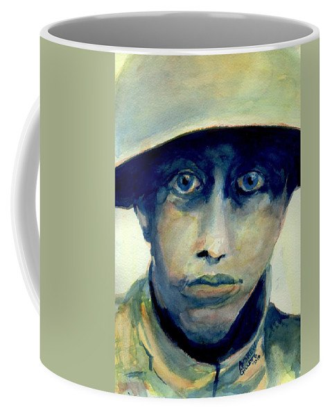 World War One Coffee Mug featuring the painting Fresh From The Front Line by Andrew Gillette