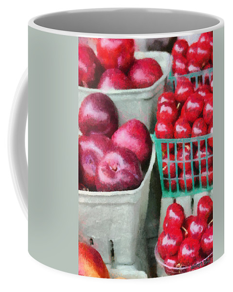 Apple Coffee Mug featuring the painting Fresh Market Fruit by Jeffrey Kolker
