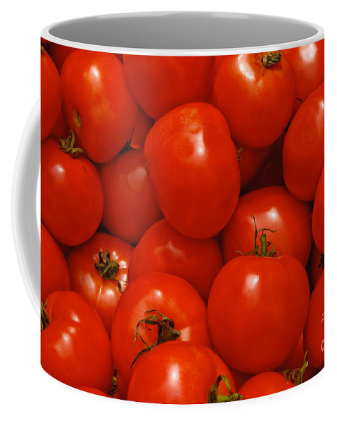 Tomato Coffee Mug featuring the photograph Fresh Red Tomatoes by Thomas Marchessault