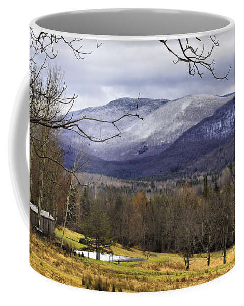 Rural Coffee Mug featuring the photograph Fresh Snow by Deborah Benoit