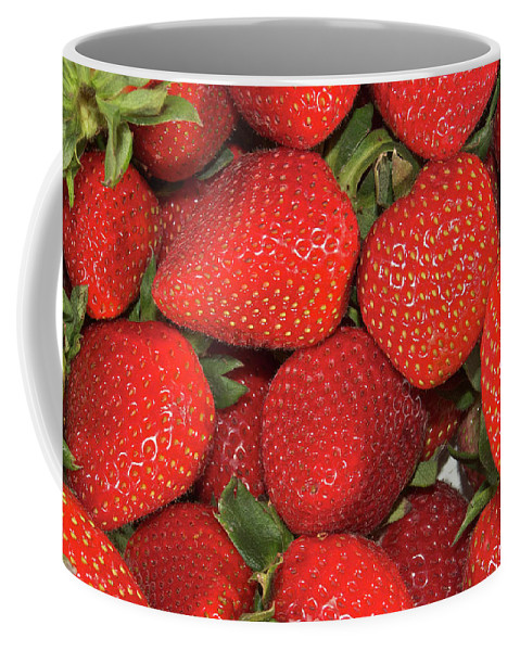 Fruit Coffee Mug featuring the photograph Fresh Strawberries by Michael Peychich