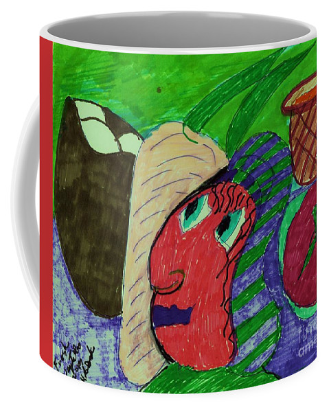 Fresh Veges On A Table Coffee Mug featuring the mixed media Fresh Vegetables by Elinor Helen Rakowski