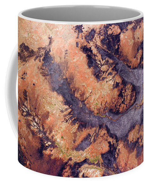 Landscape Coffee Mug featuring the photograph Freshly Burned Savanna In The Denuded by Michael Fay