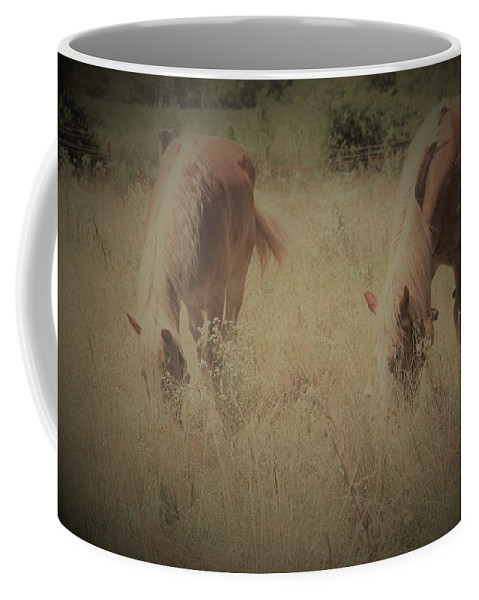 Landscape With Horses Coffee Mug featuring the photograph Friends Forever by Kimberly Gust