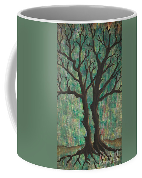 Trees Coffee Mug featuring the painting Friends by Jacqueline Athmann