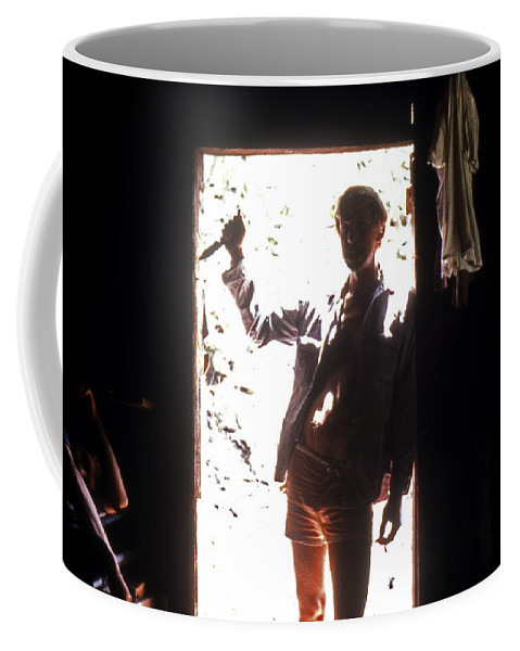 Portrait Coffee Mug featuring the photograph Friends by Lee Santa