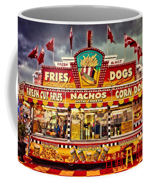 Carnival Coffee Mug featuring the photograph Fries Nachos Dogs by Diana Powell
